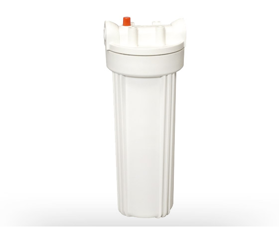 Solid white water filter housing