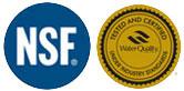 NSF and WQA logos